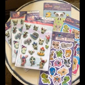 Lot of 6 Littlest Petshop sticker packs 167